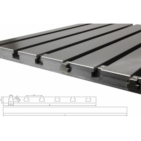Steel T-slot plate 6040